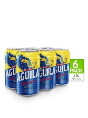 Six Pack Cerveza Aguila – 330ml