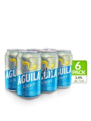 Six Pack Cerveza Aguila Light – 330ml