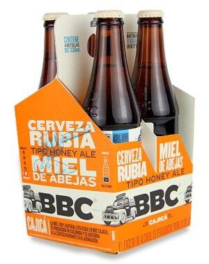 Cerveza BBC Cajicá Miel Four Pack Botella 330ML